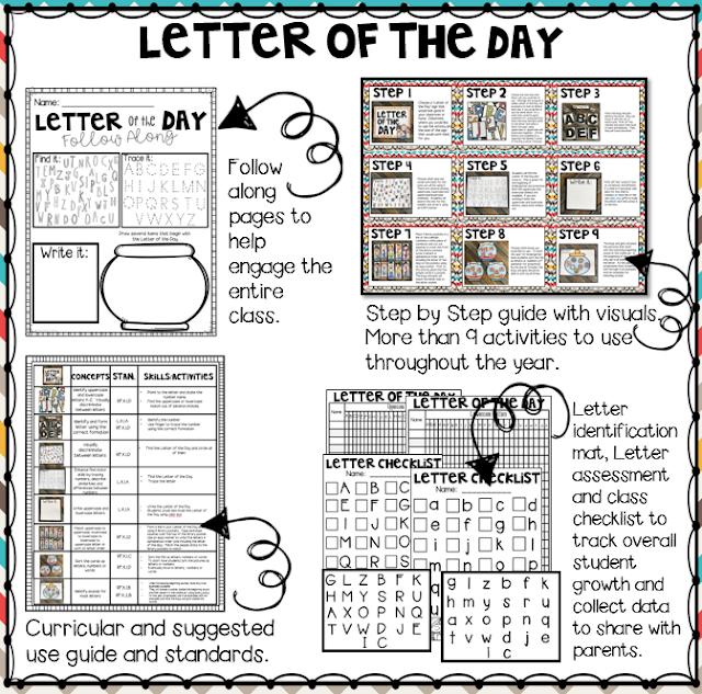 Letter of the Day activities for preschool and kindergarten