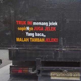 kata kata bak truk paling keren lucu gokil