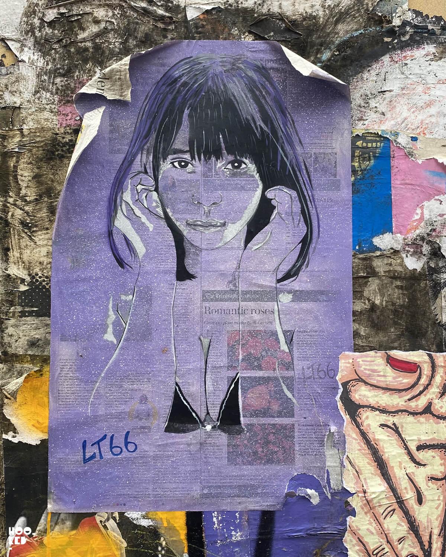 England-London-Brick-Lane-Street Art Paste-ups-Seven Star Yard by LT66