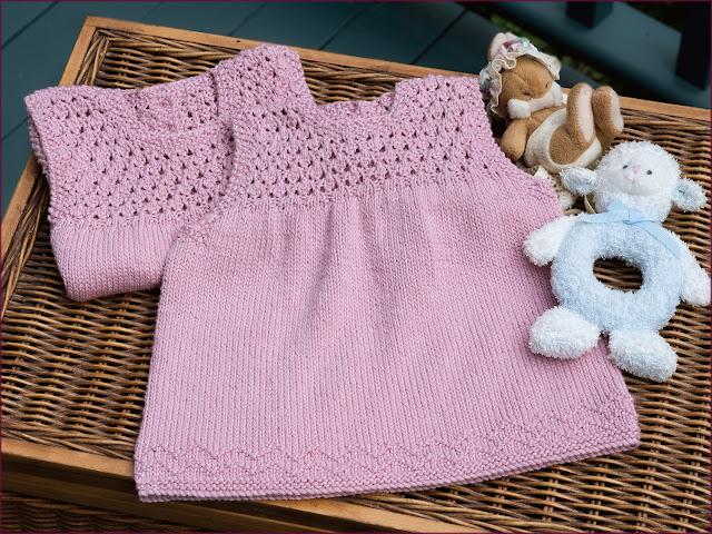 Aelwen Baby Dress by Moira Ravenscroft, Wyndlestraw Designs