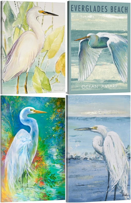 Florida Heron Canvas Art