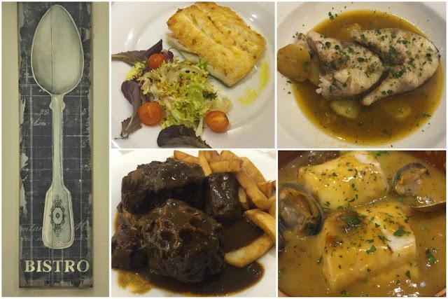 Detalle decoración - Platos principales de carne y pescado en el Restaurante Casa Víctor en Gijón