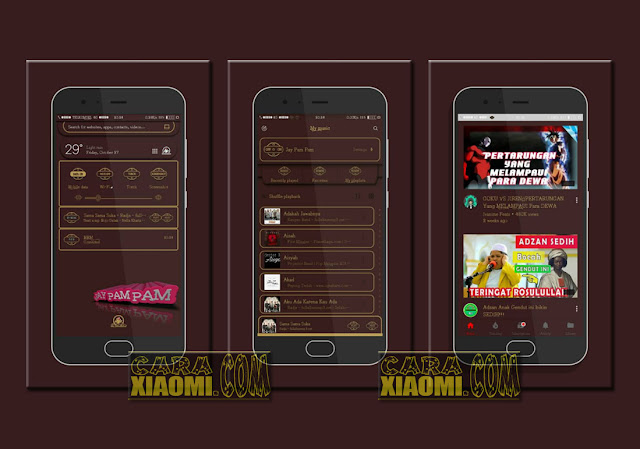 Download Thema MIUI Terbaru Mtz Textyl Ball Chocolate For Xiaomi