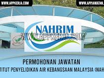 Jawatan Kosong di Institut Penyelidikan Air Kebangsaan Malaysia (NAHRIM)