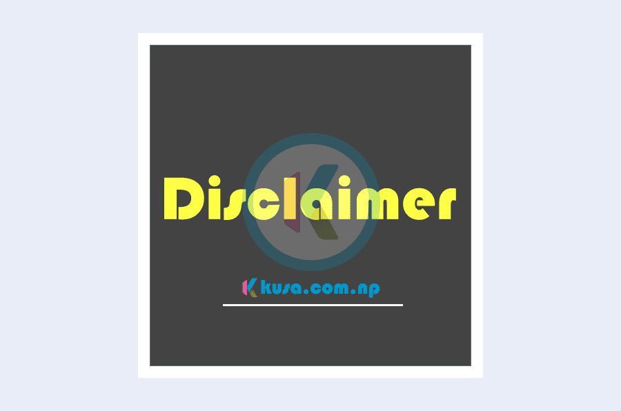Disclaimer-Kusa