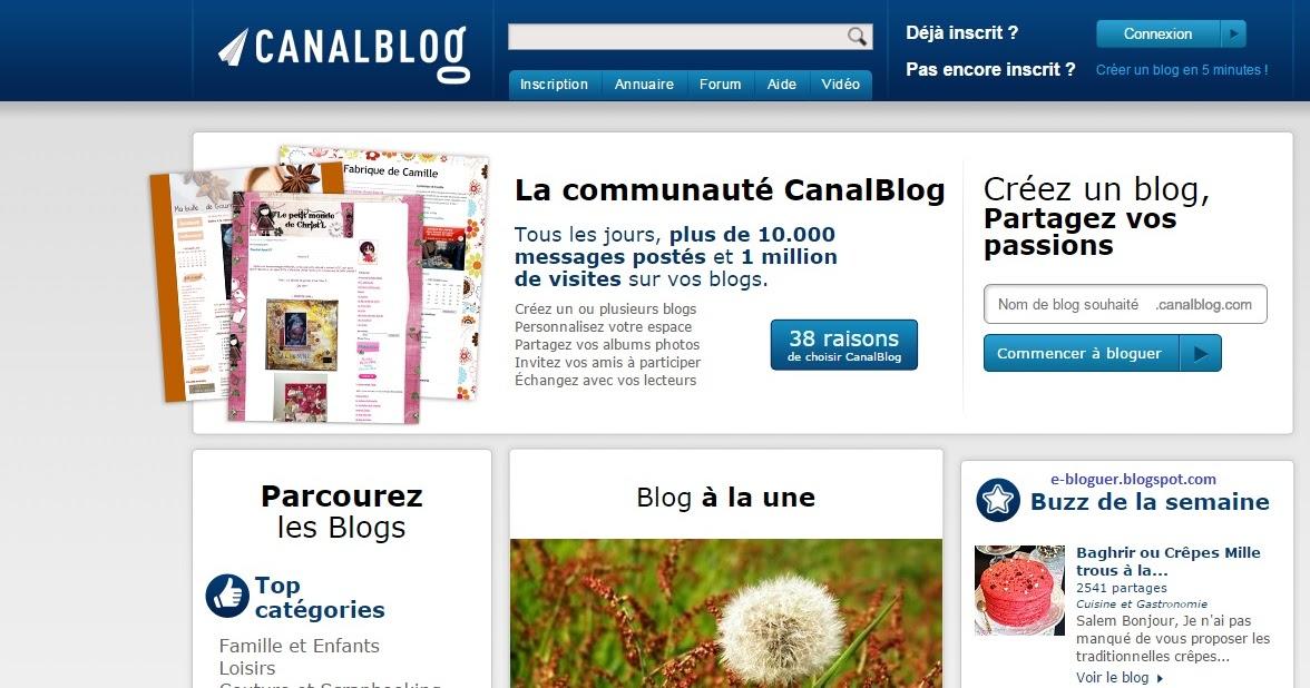 comment cr er un blog avec canalblog blogger cole bloguer. Black Bedroom Furniture Sets. Home Design Ideas