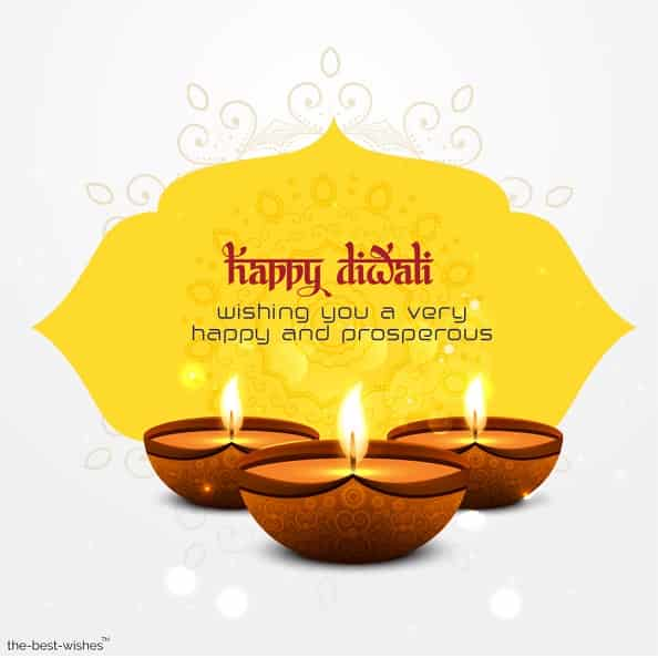 wishing you a very happy and prosperous diwali