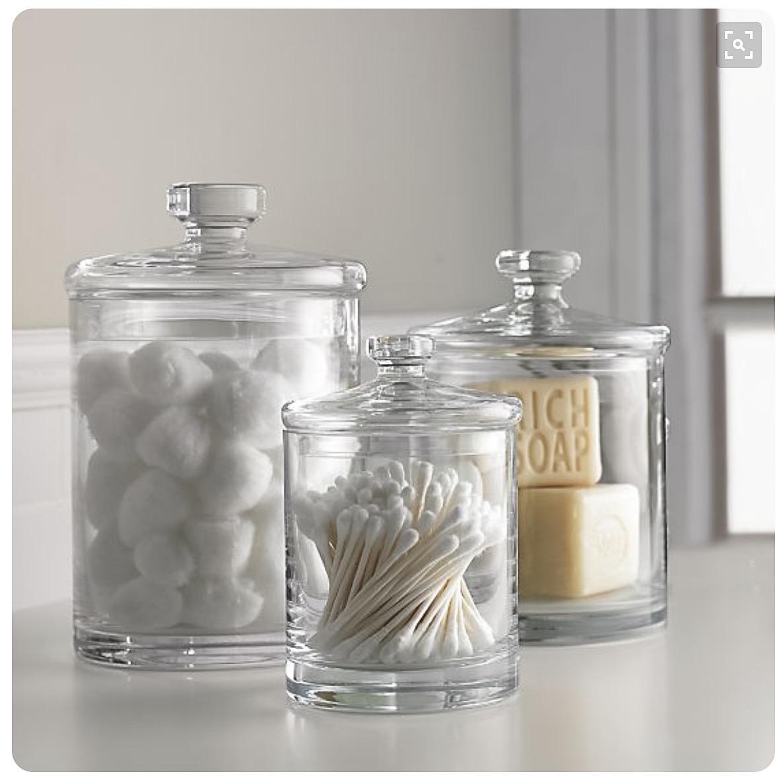 Organizadora profesional frascos de vidrio para el ba o - Pared de vidrio ...