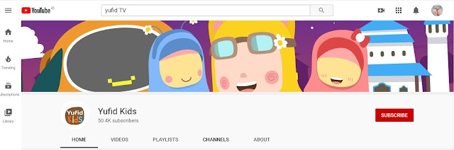 Channel Youtube Islami untuk Anak