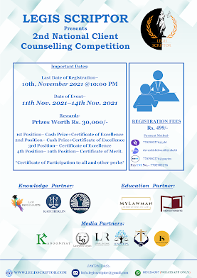 2nd Edition of National Client Counselling Competition by Legis Scriptor [Register by 10 November 20