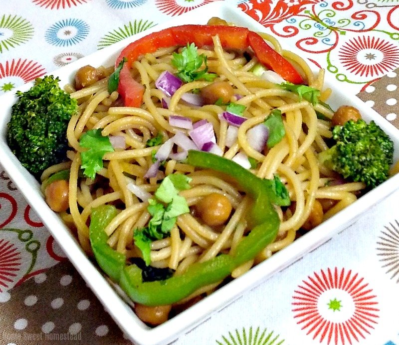 Asian Noodle and Chickpea Stir-fry