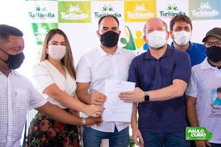 Paulo Curió assina ordem de serviço para início das obras do hospital municipal de Turilândia