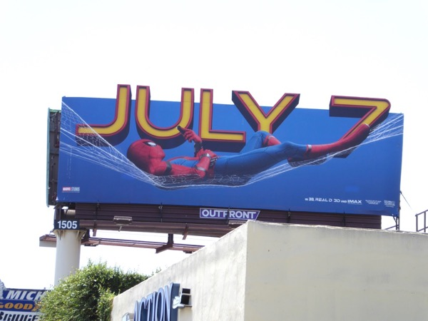 Spiderman Homecoming extension cut-out billboard