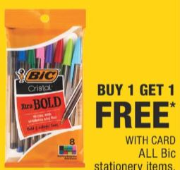 BIC pen deals at cvs