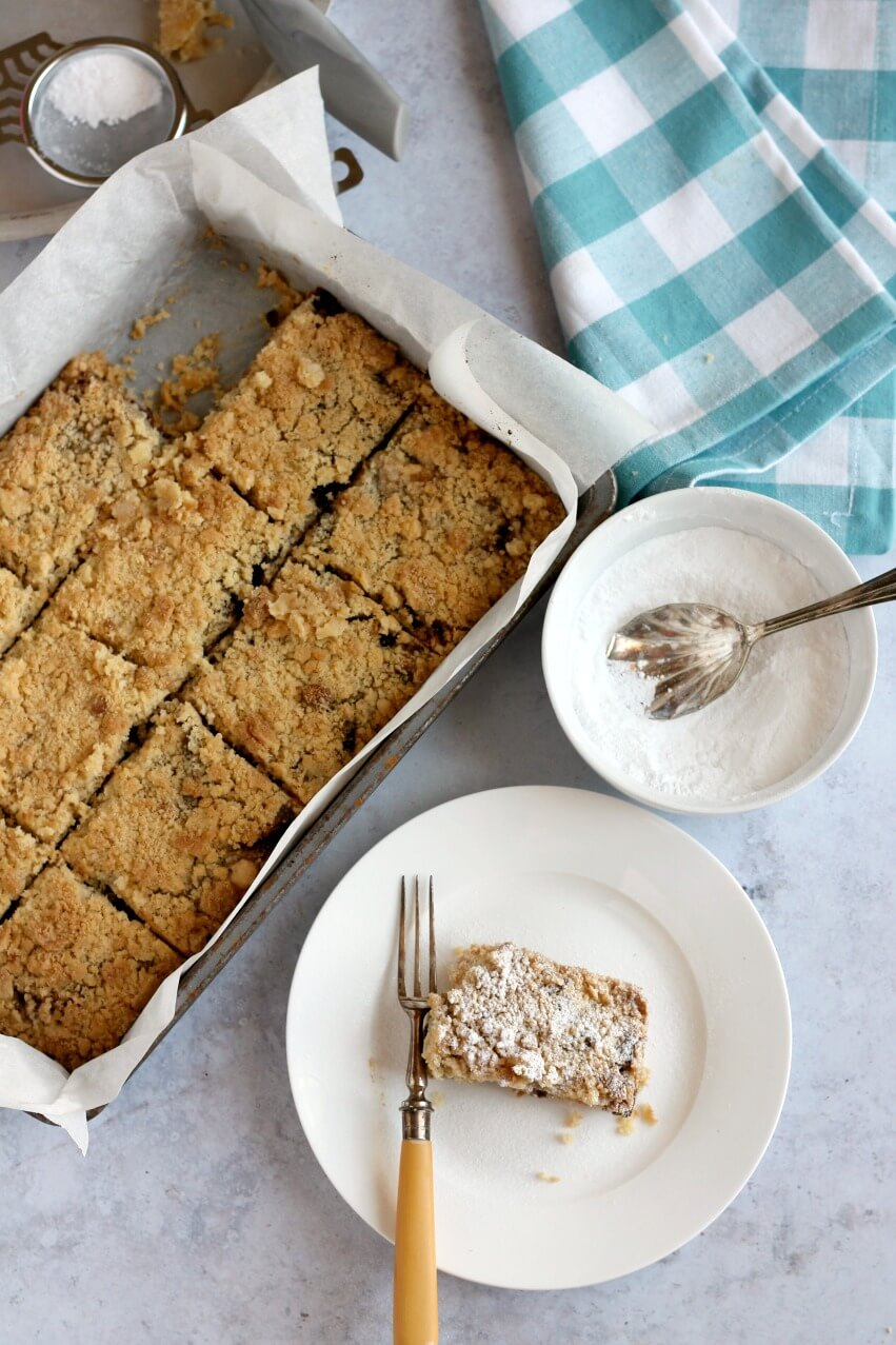 Slice of mincemeat crumble