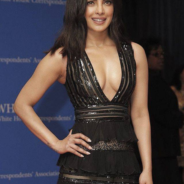 Priyanka Chopra Hot Photos In Black Dress