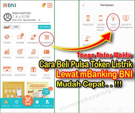 Cara beli token listrik di mobile banking bni terbaru