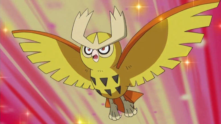 Noctowl Shiny Anime Pokémon