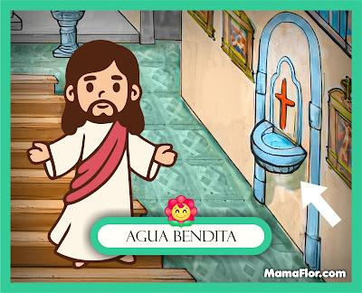 Agua Bendita — Partes del Templo