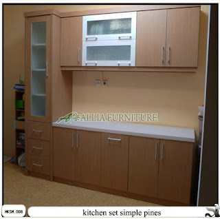 Kitchen Set Minimalis Simple Pines Allia Furniture