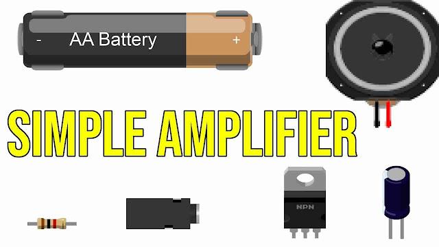 Simple Basic Audio Amplifier Circuit Using NPN Transistor