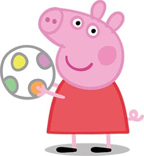 Peppa pig con pelota