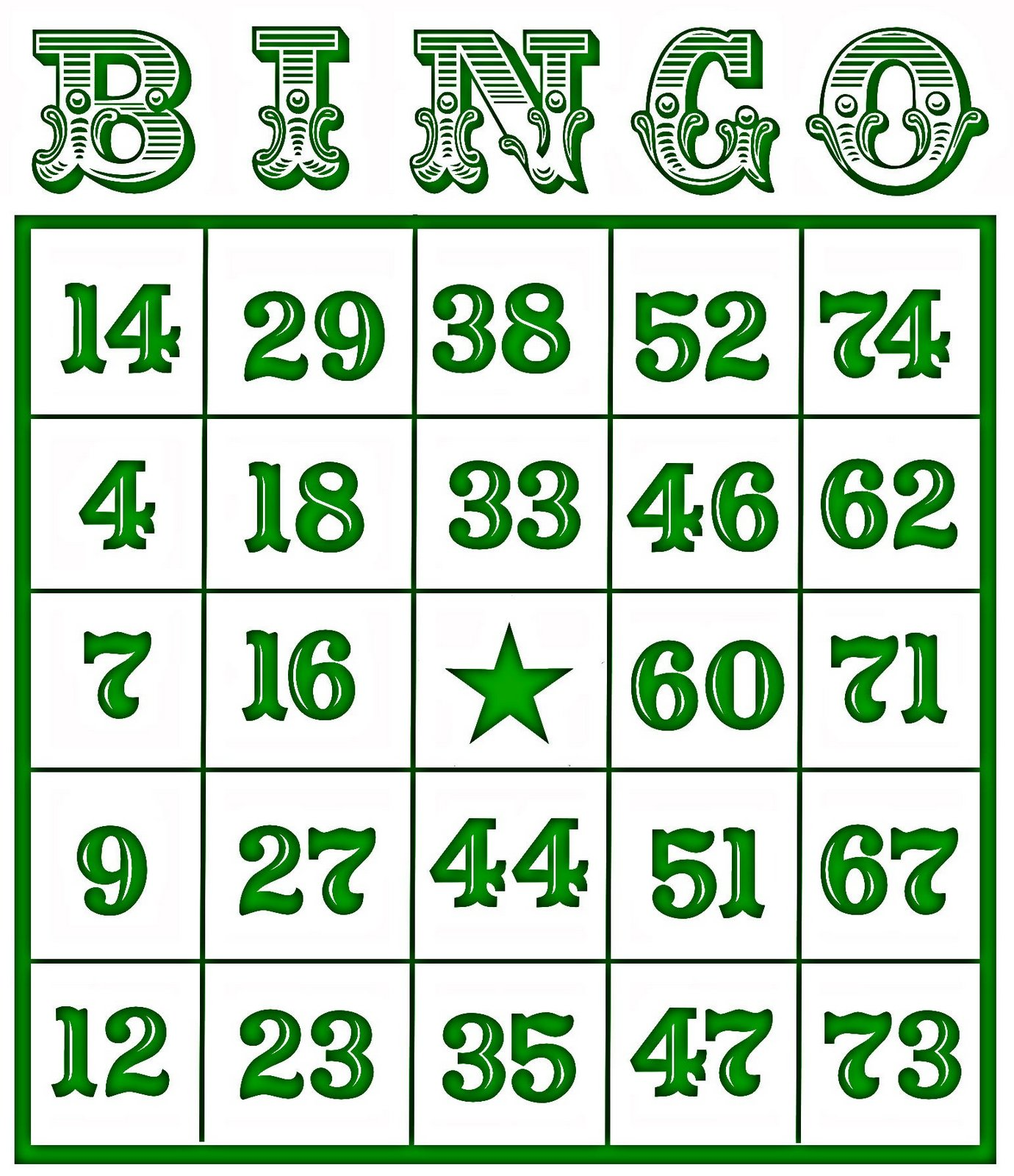 Bingo Card Printables To Share on Number Recognition Bingo