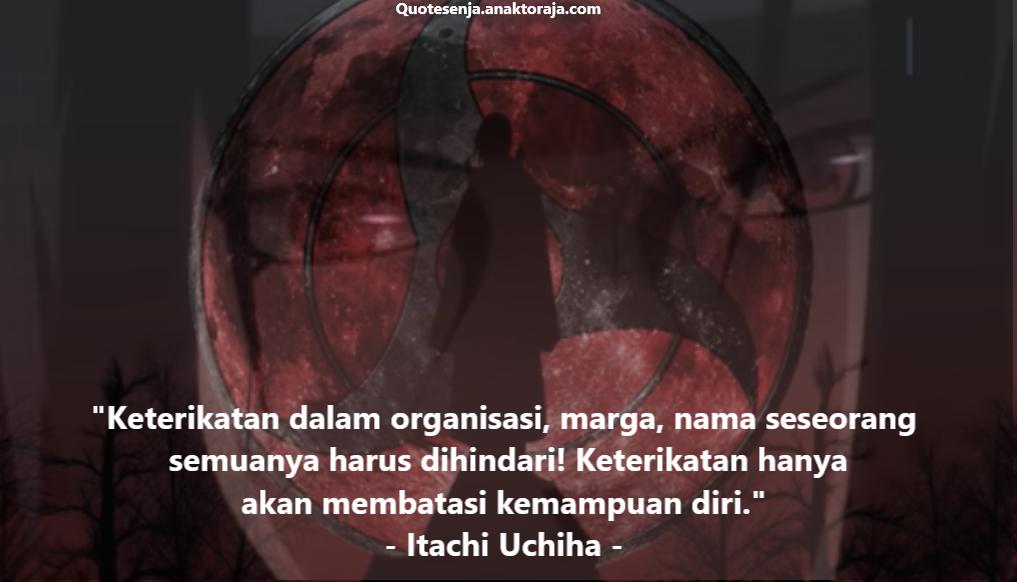 Gambar kata-kata Itachi terbaik