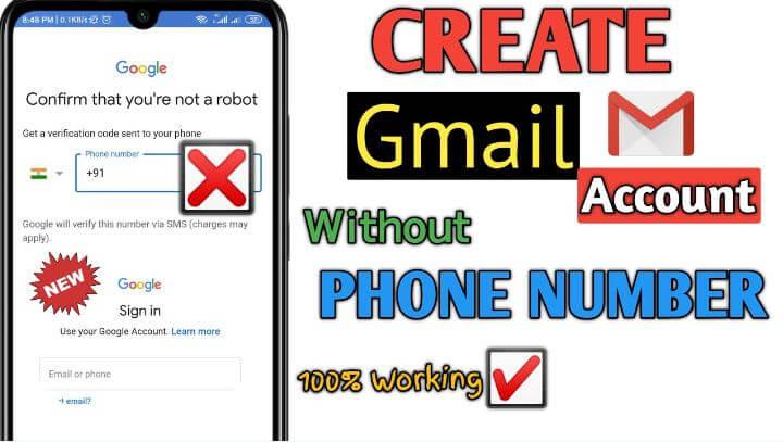 شرح, خطوات, إنشاء, حساب, Gmail, بدون, رقم, موبايل
