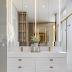 Banheiro com banheira contemporâneo e sofisticado: branco, dourado e bronze!