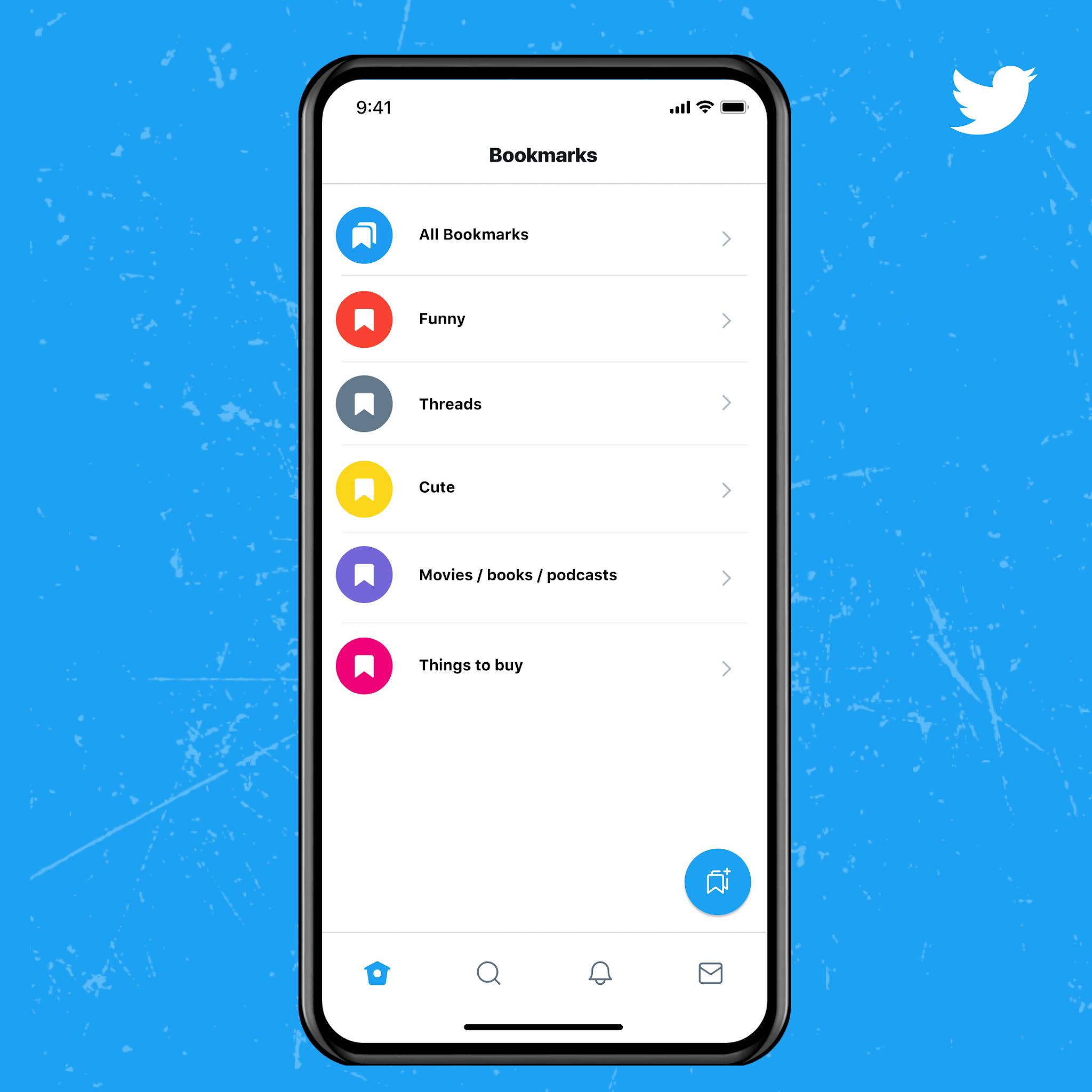 Twitter Blue Bookmarks Yer imi özelliği