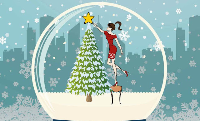 'Miss Christmas' by Gigi Garrett: Smart, Fast-Pace Christmas Romance in a Novella Package. Thoughts on the cute seasonal rom-com! Text © Rissi JC
