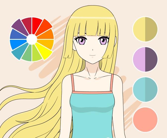 Gambar warna persegi