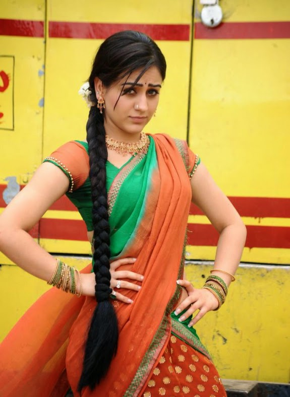 Actress Hot Images Pretty In Half Saree-7734