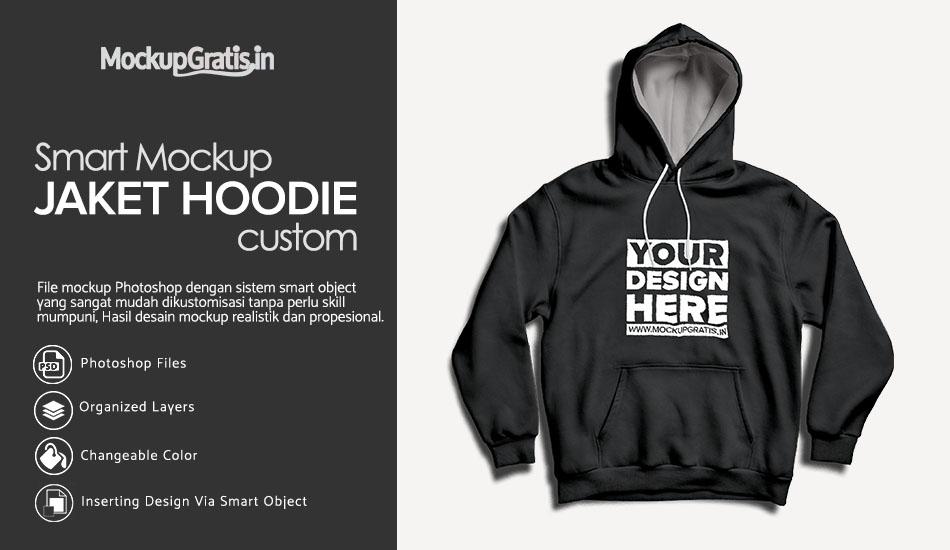 Mockup Gratis Jaket Hoodie Custom
