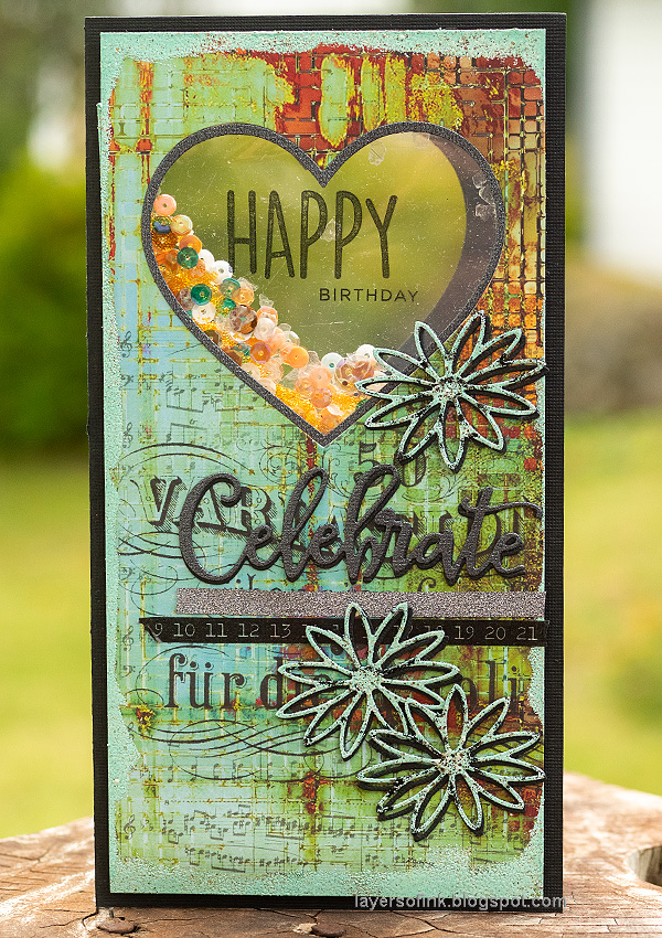 Layers of ink - Heart Shaker Cards Tutorial by Anna-Karin Evaldsson.