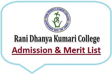 RDK College Merit List