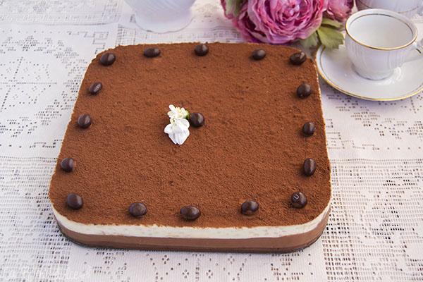 Tarta de galletas a los tres chocolate #sinlactosa