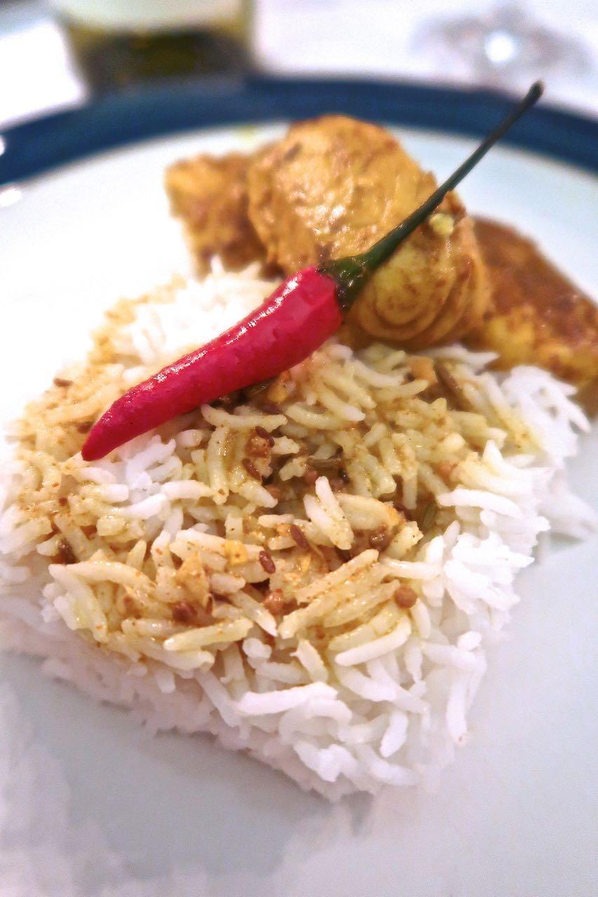 Scrumpdillyicious: Cory's Salmon in a Bengali Mustard Sauce