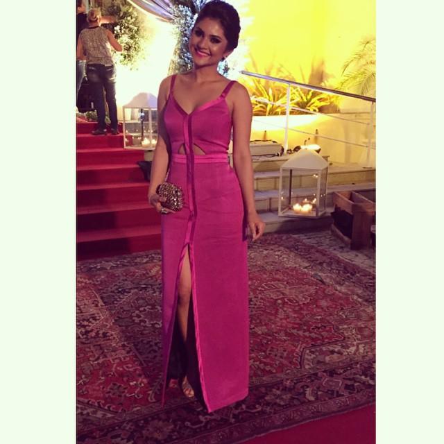 Look de diva: Mileide Mihaile - Vestidos longos e longuetes - vestido longo pink