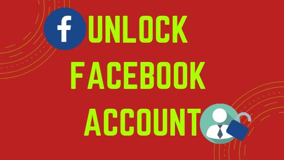 Unlock Facebook Account