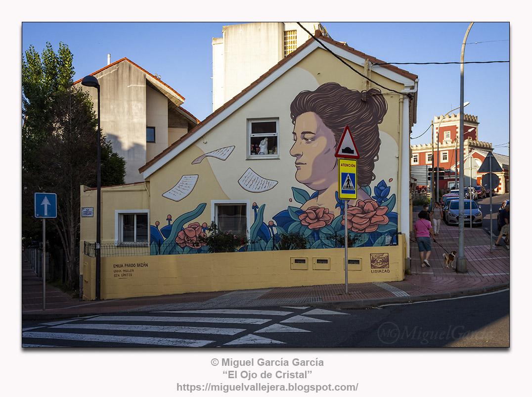 Cruce Rúa Fancisco Comesaña con Avda. Emilia Pardo Bazán, O Porto de Santa Cruz, Oleiros (A Coruña)