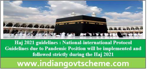 Haj 2021 guidelines