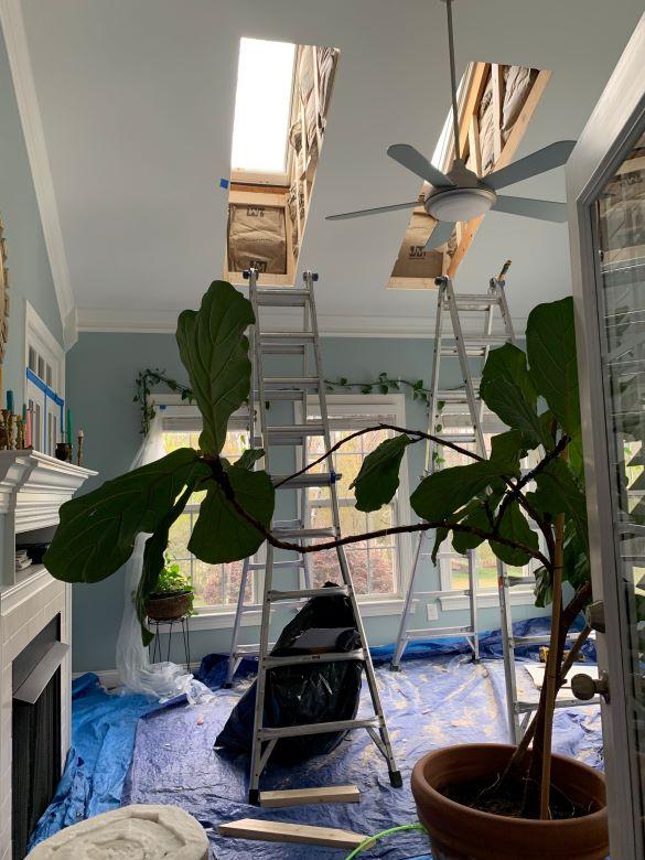 "Our New VELUX No Leak Solar Powered ""Fresh Air"" Skylights In The Sunroom- designaddictmom"