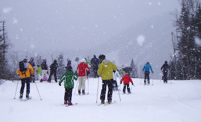 Real snow from the sky, a rare commodity this winter: February 18, 2012, Gore Mountain.  The Saratoga Skier and Hiker, first-hand accounts of adventures in the Adirondacks and beyond, and Gore Mountain ski blog.