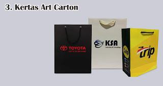 Kertas Art Carton merupakan salah satu jenis kertas untuk membuat paper bag