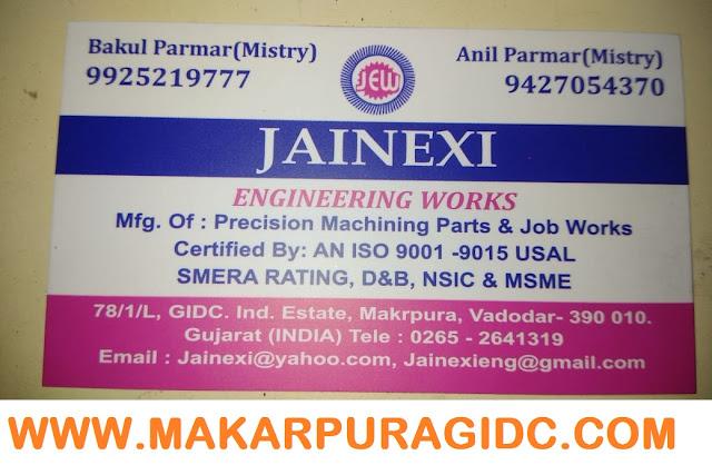 JAINEXI ENGINEERING WORKS - 9925219777 | 9427054370