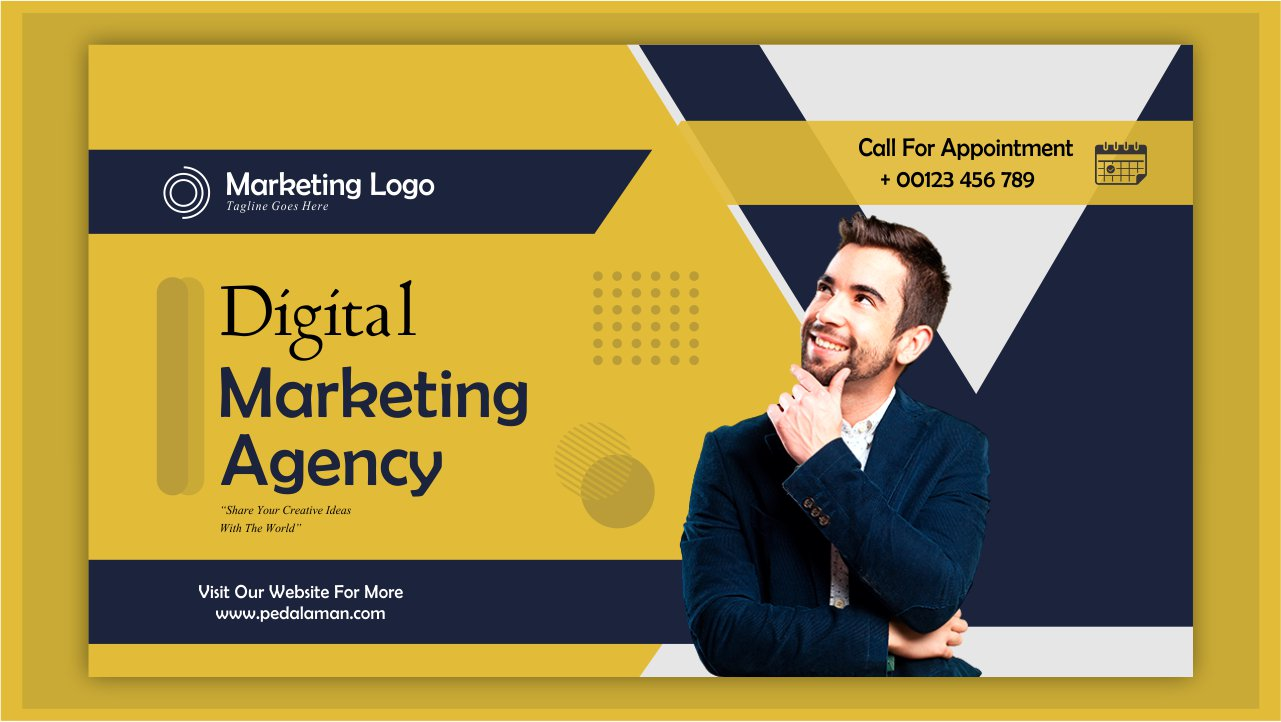 Membuat Banner Digital Marketing Agency