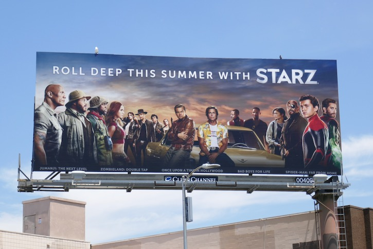 Starz 2020 summer films billboard