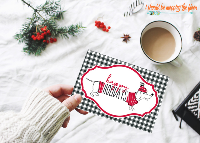 Happy Holidays Greeting Card Printable